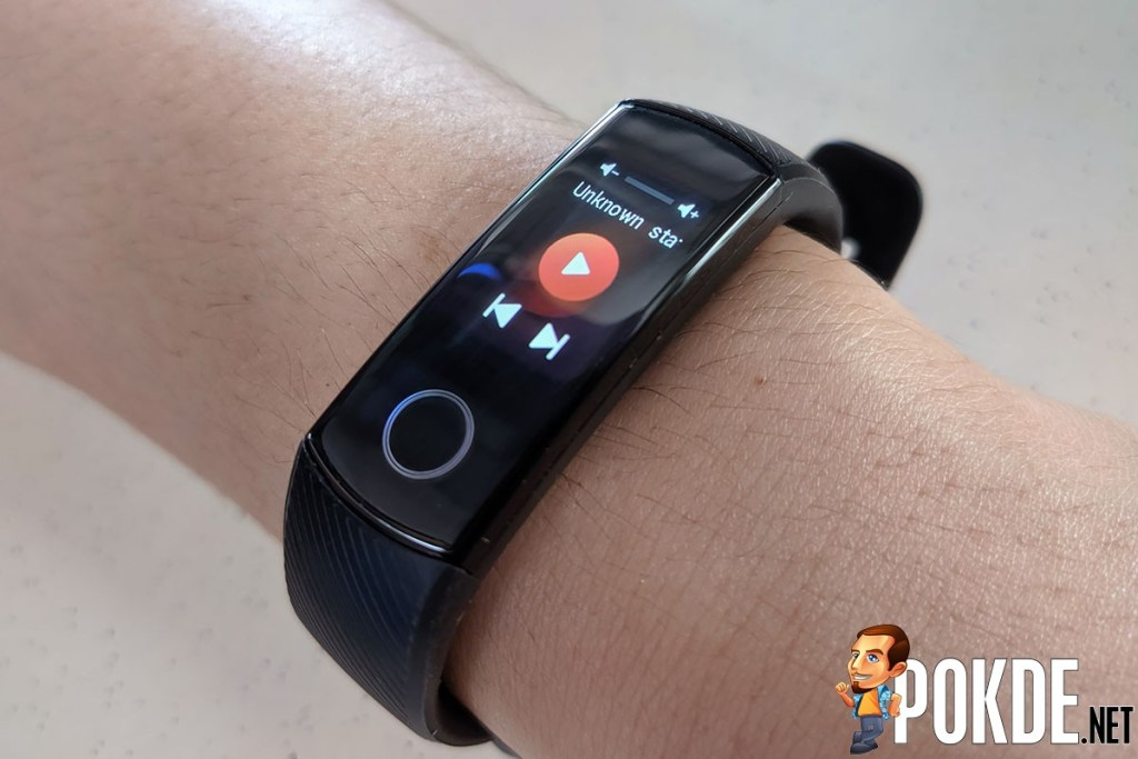 HONOR Band 5 review music controls
