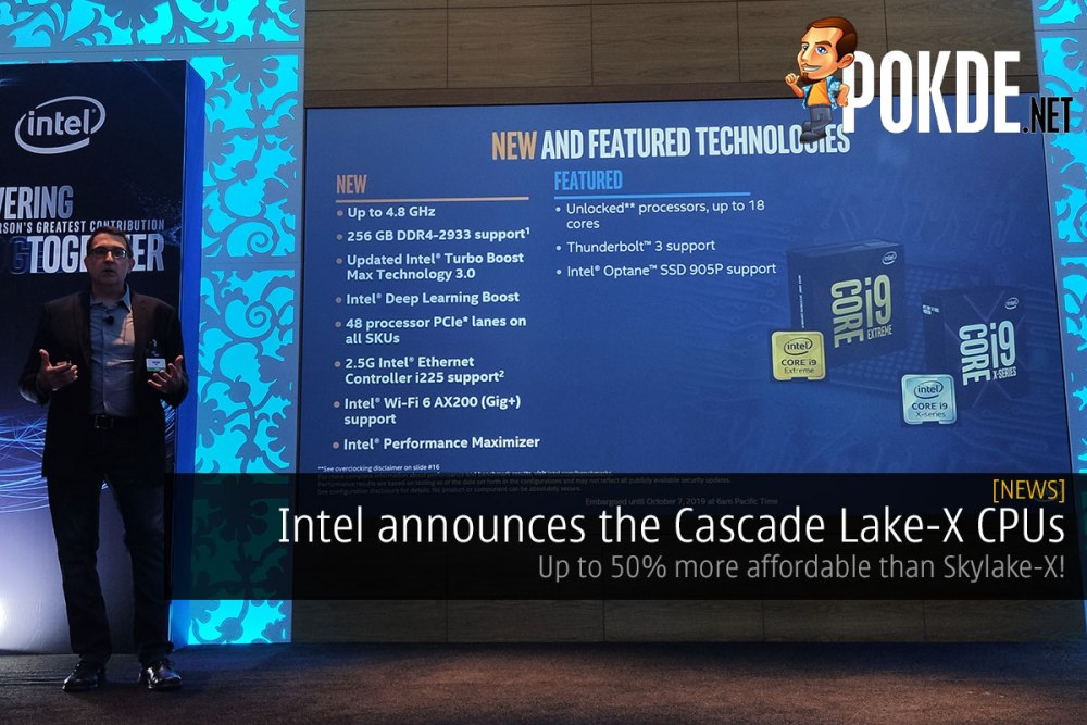 Intel announces the Cascade Lake-X CPUs — up to 50% more affordable than last-gen! 26