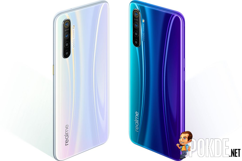 realme xt in white and realme xt in blue
