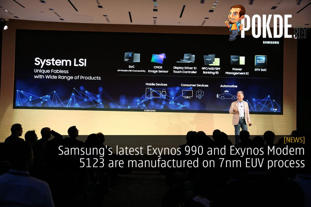 Samsung's latest Exynos 990 and Exynos Modem 5123 are manufactured on 7nm EUV process 23