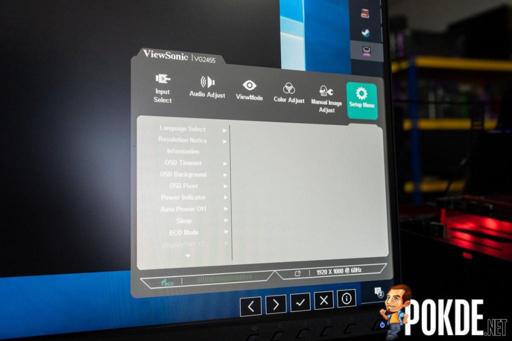 viewsonic vg2455 review osd setting