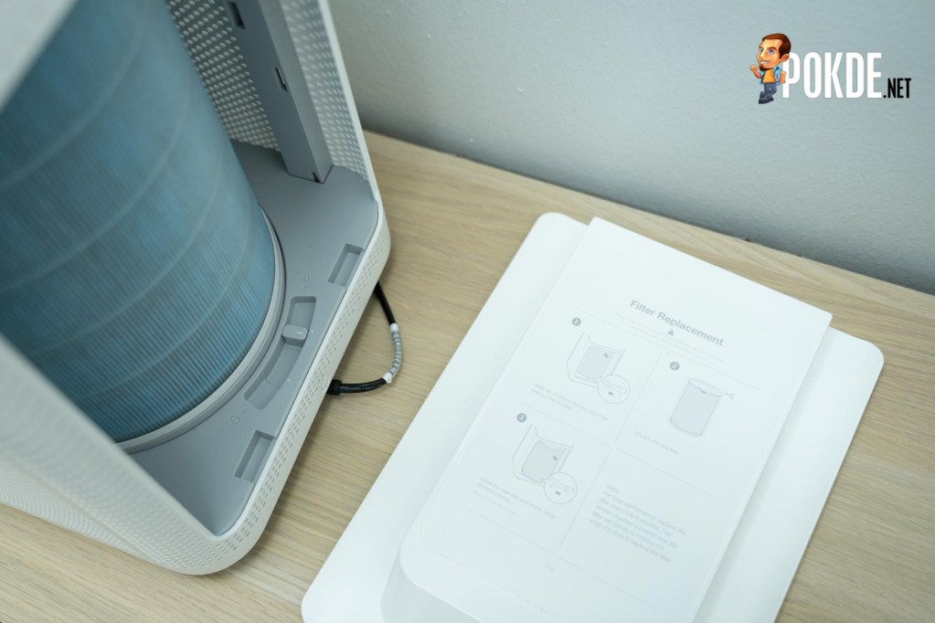 Mi Air Purifier Pro's filter is accessible from the back of the unit
