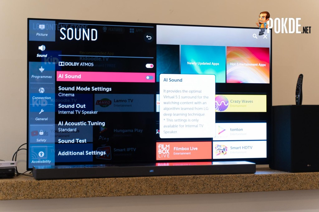 "LG 65"" HDR OLED Smart UHD TV Hands On 27"