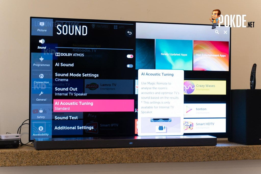 "LG 65"" HDR OLED Smart UHD TV Hands On 28"