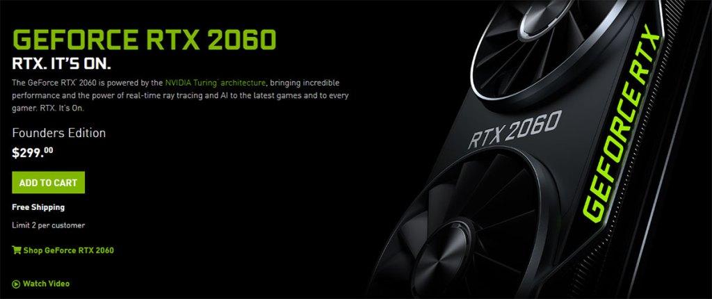 geforce rtx 2060 price cut