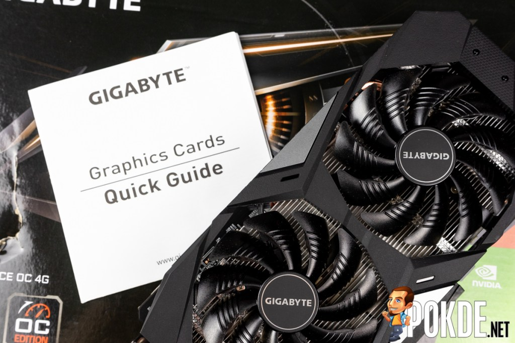 GIGABYTE GeForce GTX 1650 SUPER WINDFORCE OC Review package contents