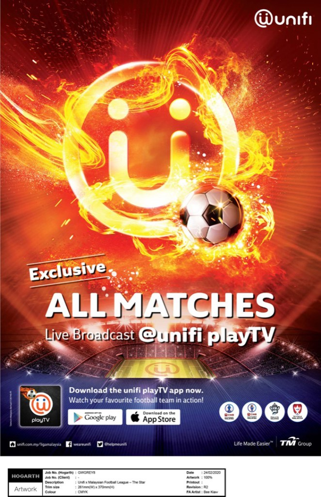 Liga Malaysia Matches Now Streamable With unifi 19
