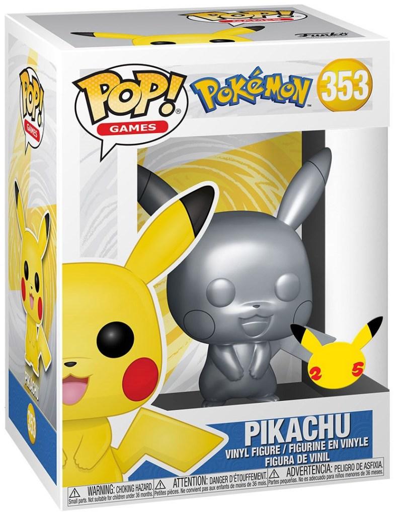 pop pikachu silver