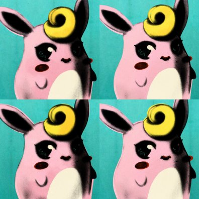 Wigglytuff Vs Andy Warhol by Julia-Alison