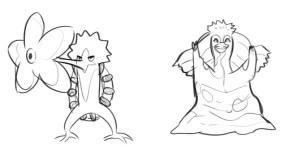 Fire-type Pig and Sun Pokémon