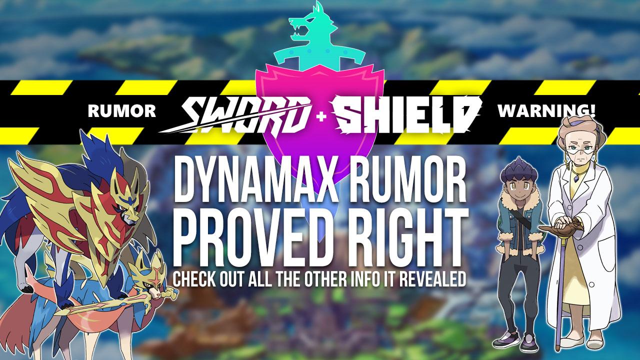 Sword & Shield Dynamax Rumor