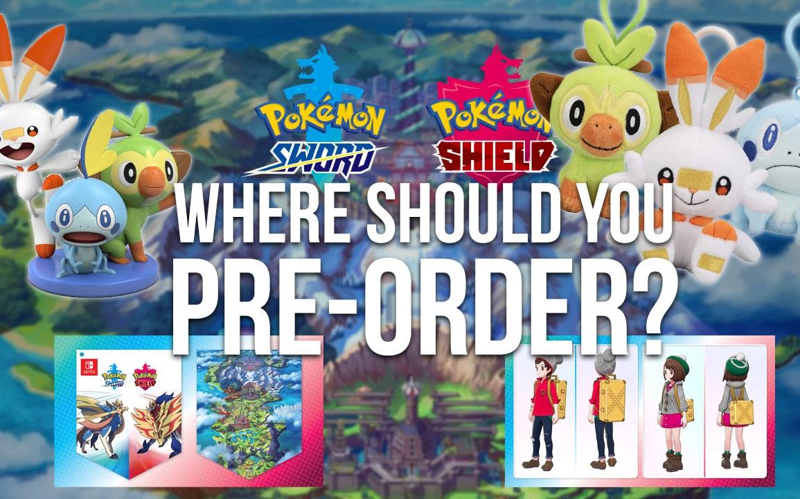 where should you pre-order Pokémon Sword & Shield