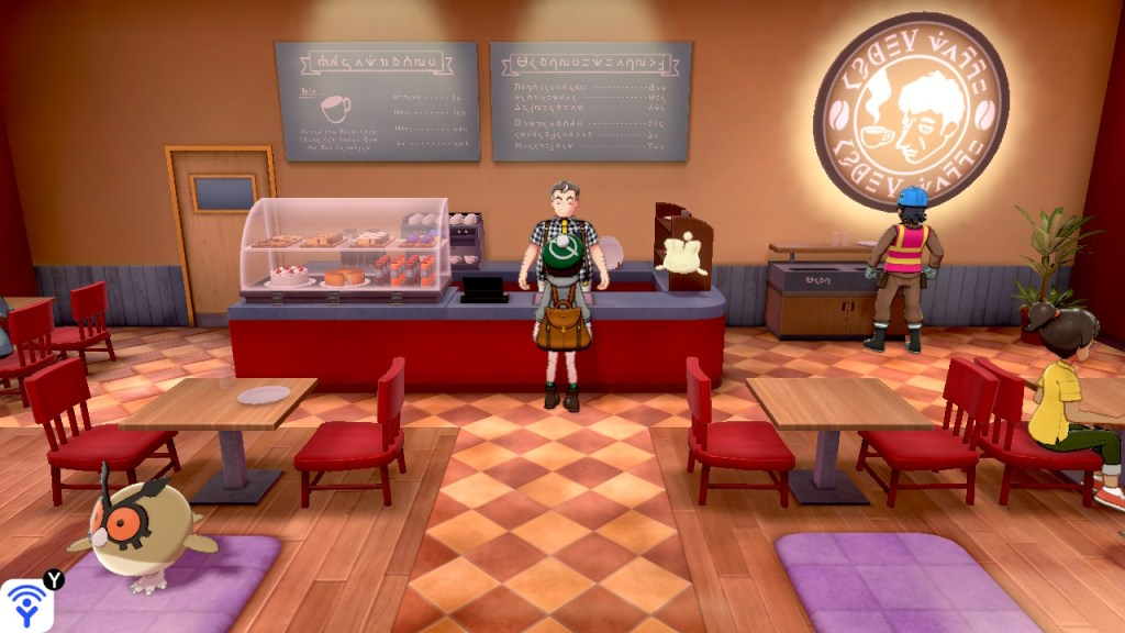 Café owner in Pokémon Sword & Shield