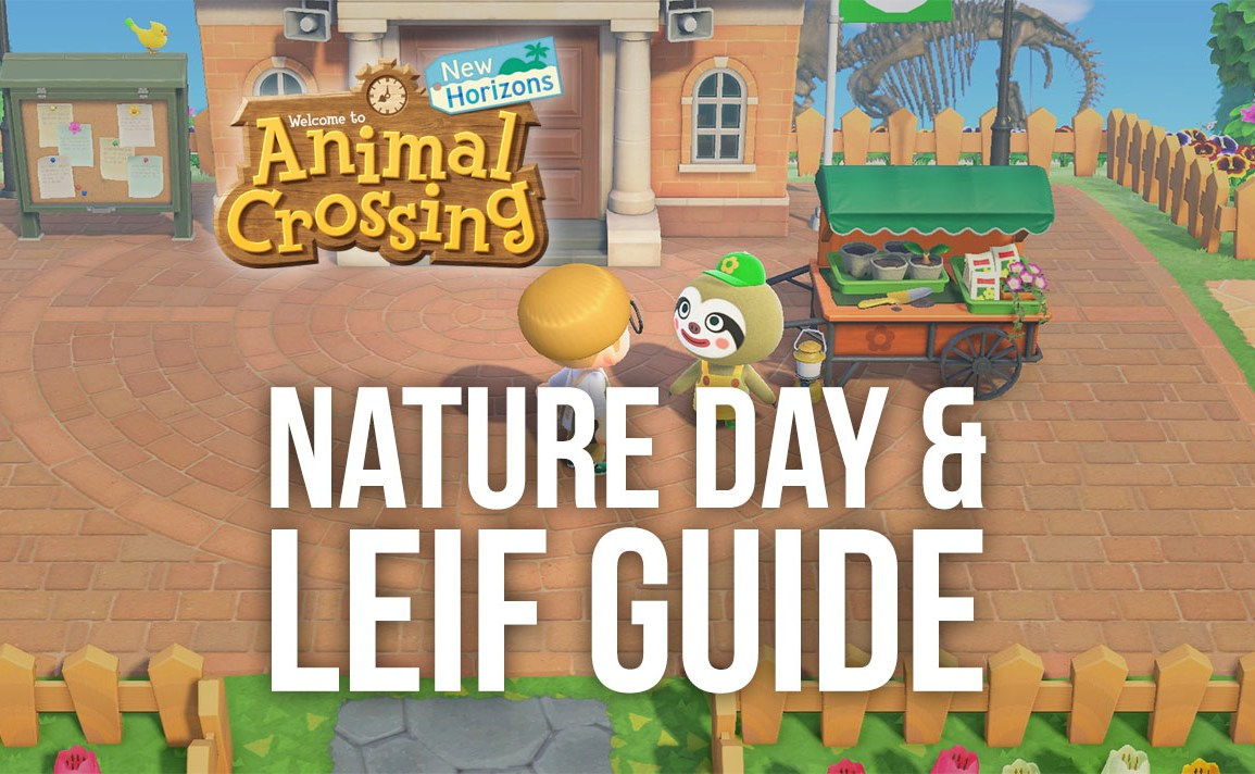Animal Crossing: New Horizons Nature Day & Leif's Shrub Guide