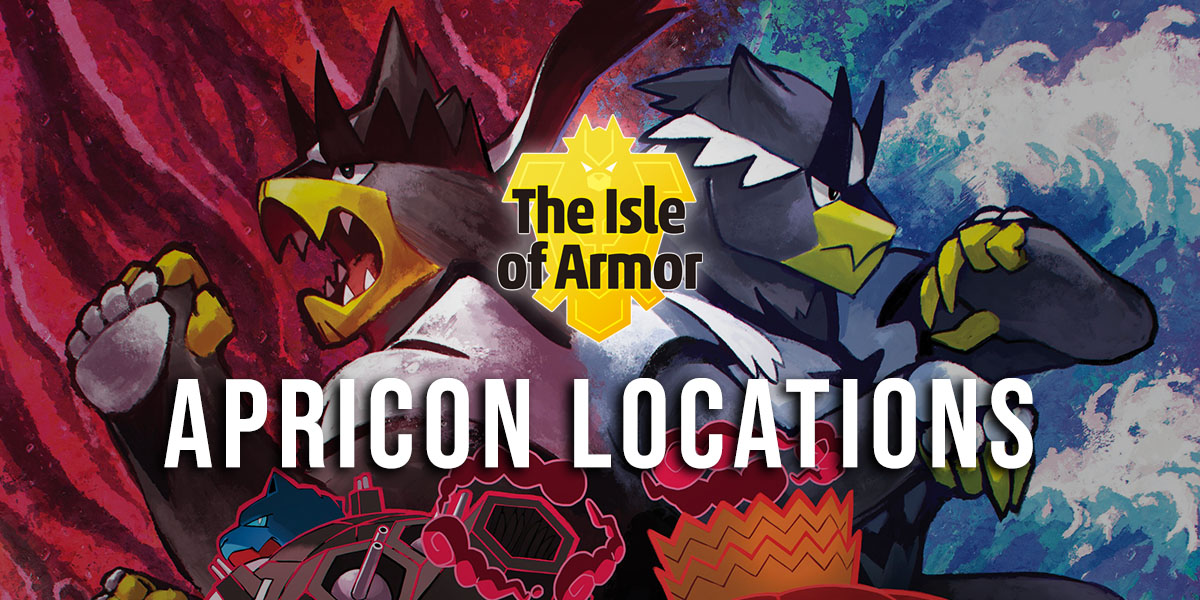 Apricorn locations in the Isle of Armor