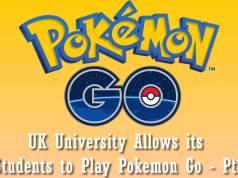 UK University Allows its Students to Play Pokemon Go