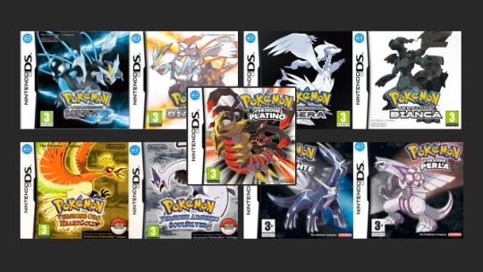 Nuove sezioni Giochi Pokémon di Quinta e Quarta Generazione