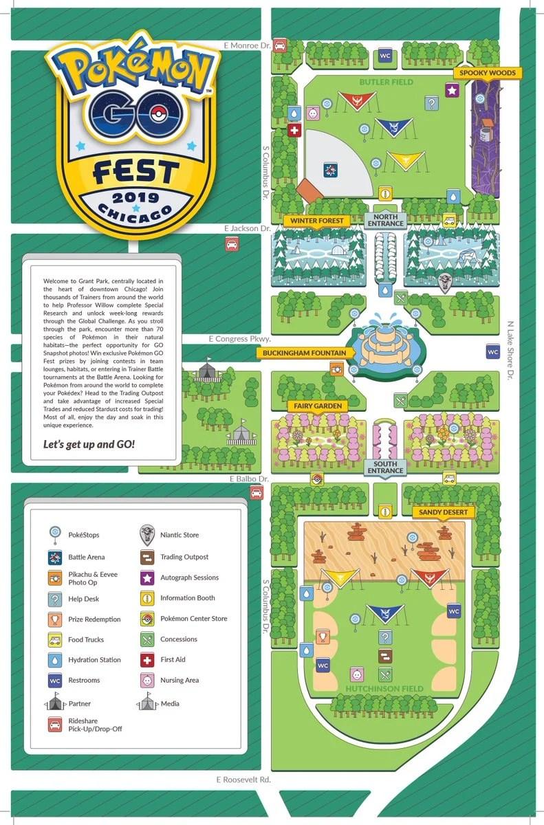 GO Fest 芝加哥2019 寶可夢巢穴一覽 ⋆ Pokemon Hubs 寶可夢 GO資訊