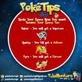 Poke Tips - Evovle Eevee how you want