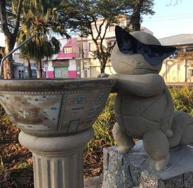 Estátua de Squirtle em Suzano/SP