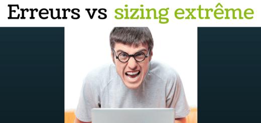 Erreurs vs sizing extrême Spin&Go