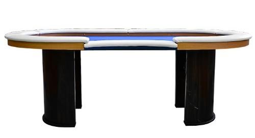 Beine Holzoptik Pokertisch LED-Beleuchtung