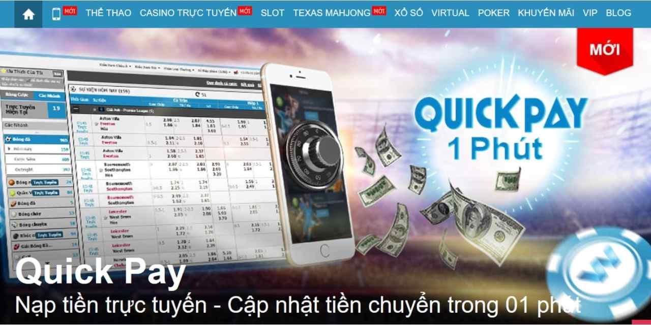 3 phút để chuyển tiền vào trong tài khoản chơi Poker online