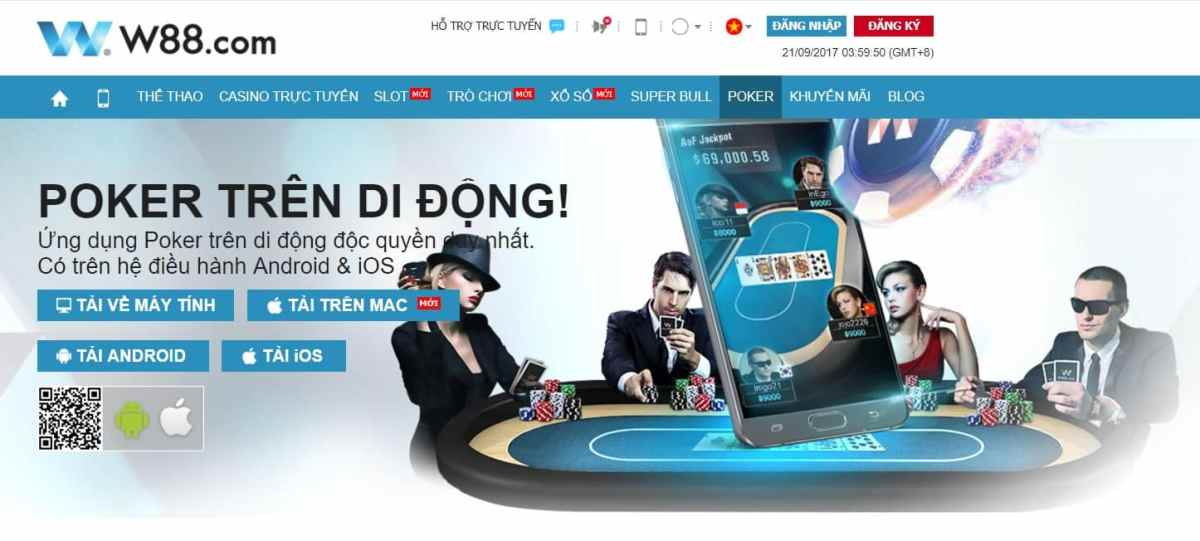 W88 online casino to play Poker online