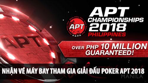 [:vi]Chơi Poker nhận vé máy bay đi Philippines tham gia giải đấu Poker APT[:]