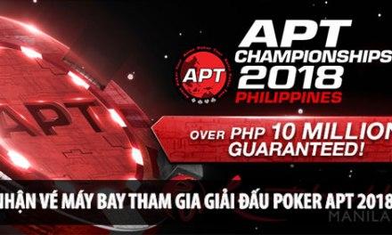 Chơi Poker nhận vé máy bay đi Philippines tham gia giải đấu Poker APT