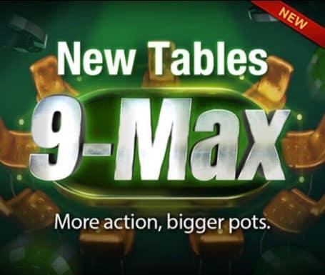 Sòng bài W88 nâng cấp bàn chơi Poker online lên 9 người max