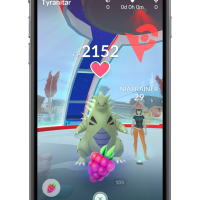 Pokémon GO gameplay footage of Raid Battle followed by successful Raid Boss capture