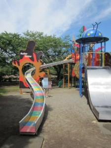 綾南公園 複合遊具・滑り台2