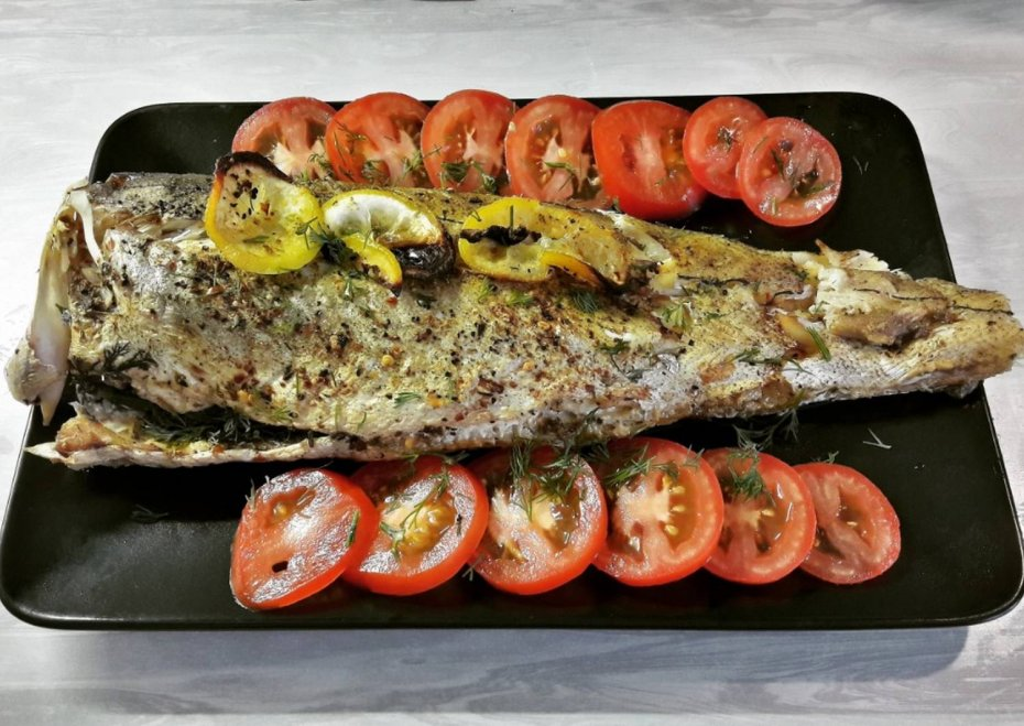 Cod baked in the oven