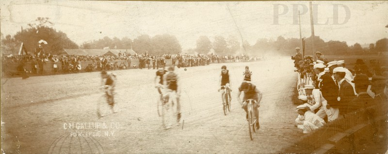 Dutchess County Fair Early Photo of Bicycle Race