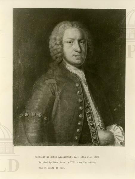 Portrait of Henry Livingston, born 1714, died 1799.