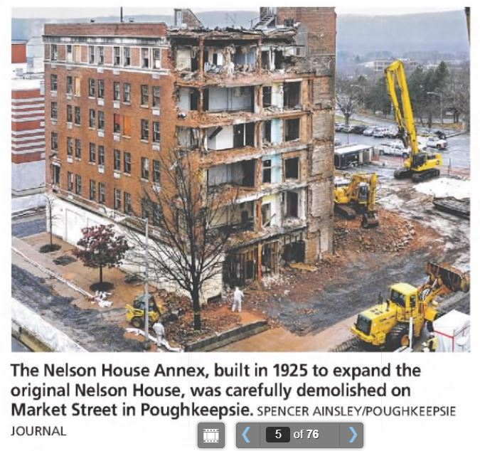 Image of demolition of Nelson House