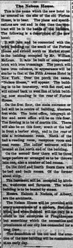 Newspaper Article about Nelson House