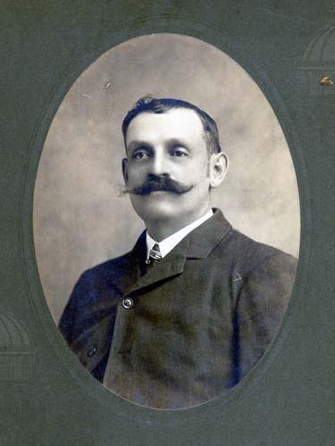 Portrait of Elsworth Rhodes, trolley conductor