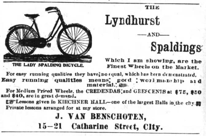 Vintage Ad for Lyndhurt Bicycle Shop 1895