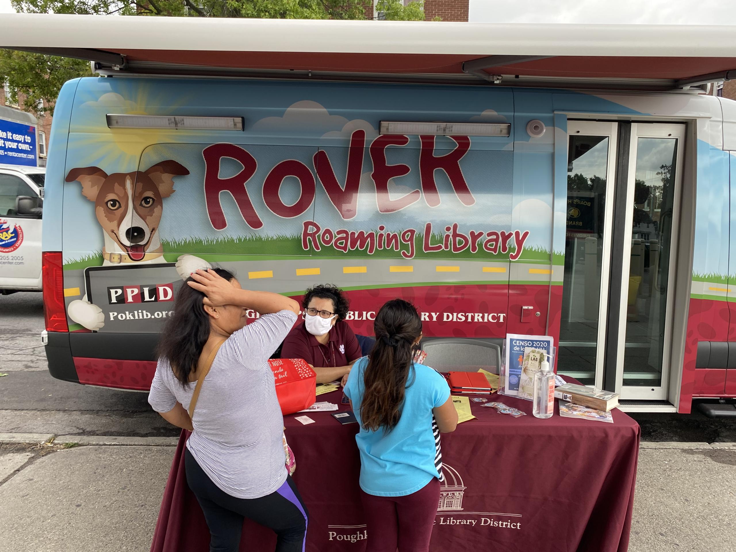 Photo #2 of Rover bookmobile at Fresh Market.