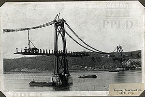 A view of road work on the Mid-Hudson Bridge - Apr 1930 - M9LD19
