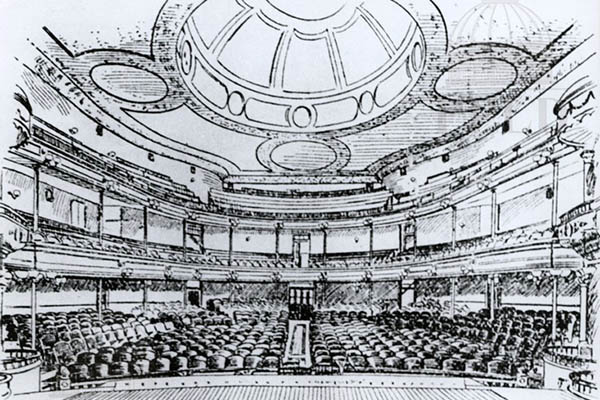 03 - Illustration of the original interior of the Collingwood, view from the stage