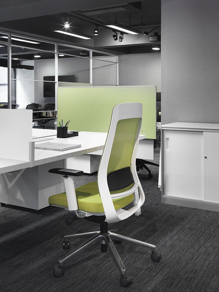 fotel ergonomiczny Shine zielony