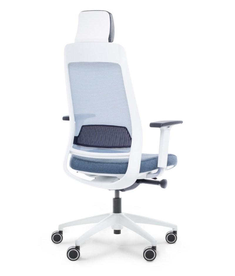 tył fotel niebieski ergonomiczny Shine EFG 100W
