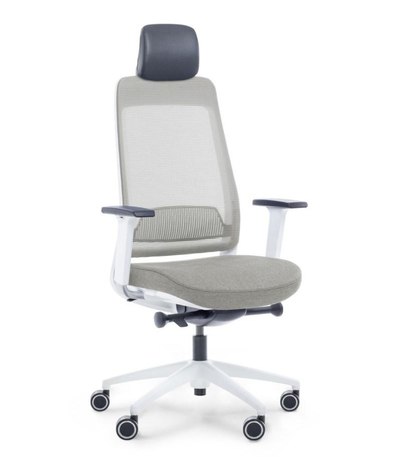 Fotel szary ergonomiczny biurowy Shine EFG 100W