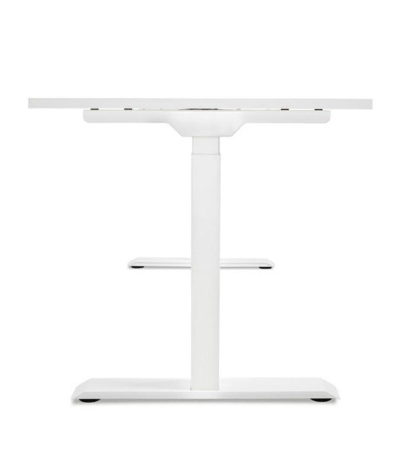 Biurko podnoszone elektrycznie z regulowanÄ… wysokoÅ›ciÄ… do pracy stojÄ…cej, Comfort ZB-200 - bok biurka