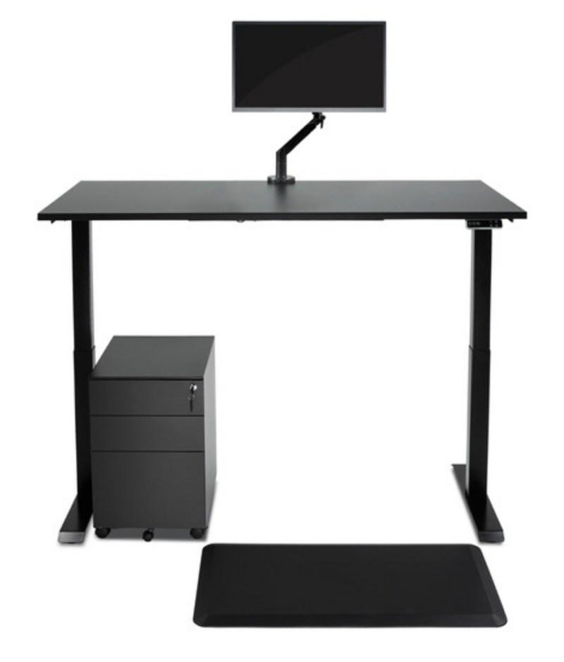 Biurko czarne podnoszone elektrycznie z regulowanÄ… wysokoÅ›ciÄ… do pracy stojÄ…cej i siedzÄ…cej, Comfort ZB-200