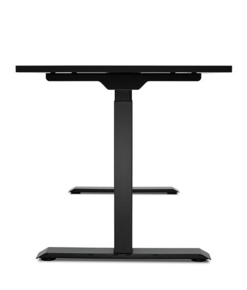 Biurko czarne podnoszone elektrycznie z regulowanÄ… wysokoÅ›ciÄ… do pracy stojÄ…cej i siedzÄ…cej, Comfort ZB-200 - bok