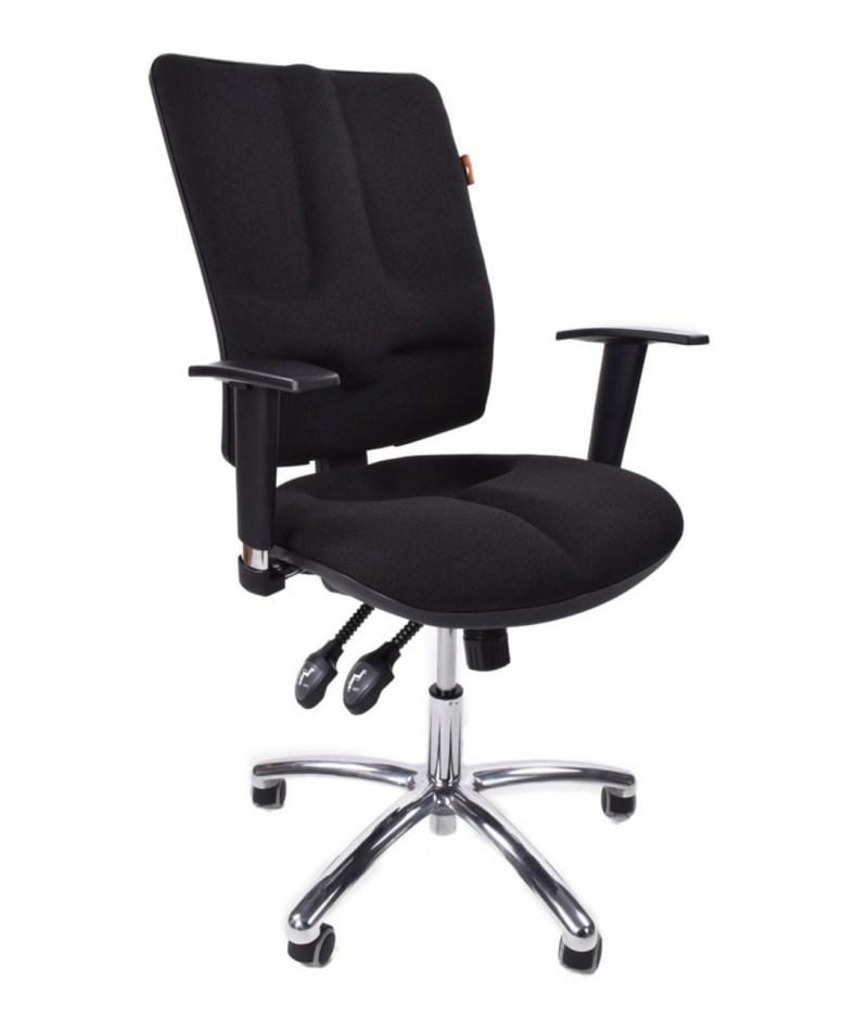 Krzesło czarne ergonomiczne biurowe Business